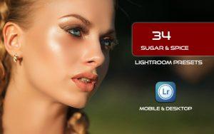 34 پریست لایت روم پرتره و Camera Raw و اکشن کمرا راو فتوشاپ Sugar & Spice Lightroom Presets