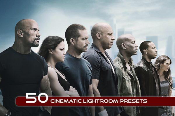 50 پریست لایت روم دسکتاپ تم رنگ سینمایی Cinematic Lightroom Presets