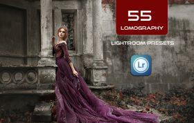 55 پریست لایت روم دسکتاپ تم لوموگرافی Lomography Lightroom Presets