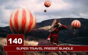 140 پریست لایت روم حرفه ای موبایل و دسکتاپ سفر Super Travel Preset Bundle