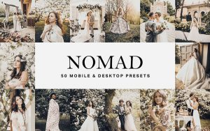 150 پریست لایت روم عروسی حرفه ای و لات رنگی Nomad Lightroom Presets and LUTs