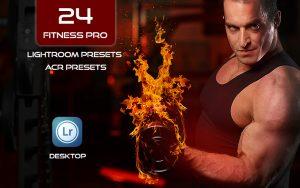 24 پریست لایت روم ورزشی و پریست کمرا راو فتوشاپ Lightroom Presets Fitness Pro and ACR