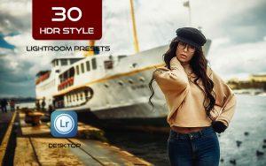 30پریست لایت روم حرفه ای افکت اچ دی آر HDR Style Lightroom Presets