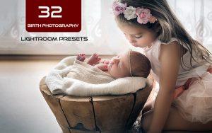 32 پریست لایت روم حرفه ای آتلیه کودک و نوزاد Birth Photography Lightroom Presets