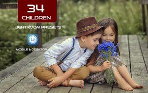 34 پریست لایت روم عکس کودک و Camera Raw و اکشن کمرا راو فتوشاپ Children Lightroom Presets