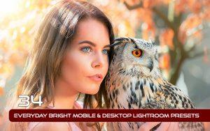 34 پریست لایت روم و Camera Raw و اکشن کمرا راو فتوشاپ تم روشن Everyday Bright Lightroom Presets