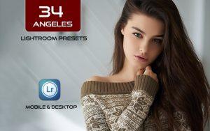 34 پریست لایت روم پرتره و Camera Raw و اکشن کمرا راو فتوشاپ Angeles Lightroom Presets