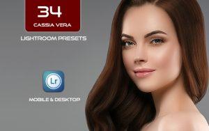 34 پریست لایت روم پرتره و Camera Raw و اکشن کمرا راو فتوشاپ Cassia Vera Lightroom Presets