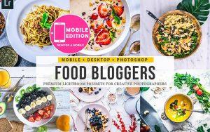 60 پریست لایت روم غذایی و پریست کمرا راو فتوشاپ Food Blogger Lightroom Presets