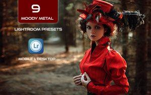 9 پریست HDR لایت روم و کمرا راو فتوشاپ تم متالیک Moody Metal Lightroom Presets
