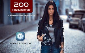 200 پریست لایت روم رنگی 2021 جدید Highlighted Lightroom Presets