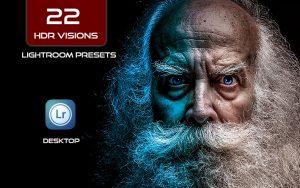 22 پریست لایت روم حرفه ای افکت اچ دی آر HDR Visions Lightroom Presets Bundle