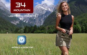 34 پریست لایت روم طبیعت و Camera Raw و اکشن کمرا راو فتوشاپ تم کوهستان Mountain Lightroom Presets