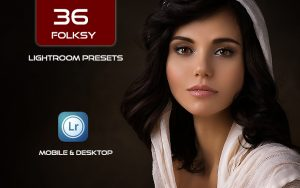 36 پریست پرتره لایت روم و پریست کمرا راو فتوشاپ Folksy Lightroom Presets