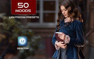 50 پریست رنگی لایت روم تم سینمایی Moods Lightroom Presets