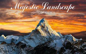 50 پریست لایت روم طبیعت و براش لایت روم Majestic Landscape Lightroom Presets