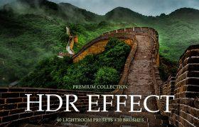60 پریست لایت روم حرفه ای HDR و براش لایت روم HDR Effect Lightroom Presets