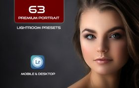 63 پریست لایت روم 2021 پرتره Premium Portrait Lightroom presets Bundle