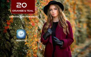 20 پریست لایت روم تم آبی و نارنجی Orange & Teal Look Lightroom Preset