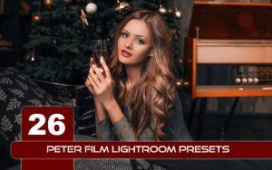 26 پریست لایت روم تم قهوه ای و نارنجی Peter Film Lightroom Presets