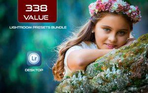 338 پریست لایت روم رنگی 2021 حرفه ای Value Lightroom Presets Bundle