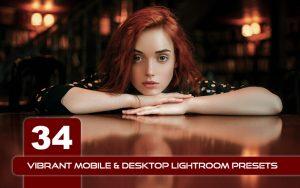 34 پریست لایت روم رنگی و Camera Raw و اکشن کمرا راو فتوشاپ Vibrant Lightroom Presets