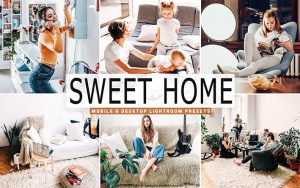 40 پریست لایت روم رنگی و Camera Raw و اکشن کمرا راو فتوشاپ تم خانه دلنشین Sweet Home Lightroom Presets