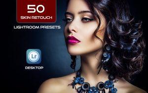 50 پریست لایت روم رتوش پوست صورت Skin Retouch Lightroom Presets