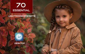 70 پریست لایت روم حرفه ای تنظیم رنگ Essential Lightroom Presets