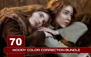 70 پریست لایت روم و کمرا راو و لات رنگی Moody Color Correction Bundle