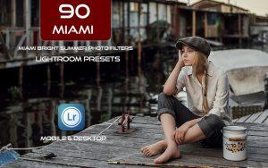 90 پریست لایت روم و اکشن فتوشاپ و لات رنگی Miami Bright Summer Photo Filters