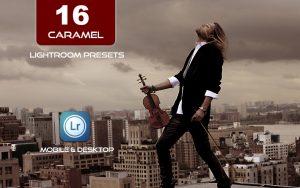 16 پریست لایت روم حرفه ای تم رنگی کاراملی Caramel Lightroom Presets