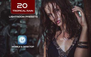 20 پریست لایت روم حرفه ای تم باران جنگل گرمسیری Tropical Rain Ligthroom Presets