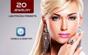 20 پریست لایت روم حرفه ای عکاسی جواهرات Jewelry Lightroom Presets Gold Edition