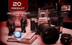 20 پریست لایت روم حرفه ای عکاسی محصولات Flat Lay Lightroom Presets for Product Photography