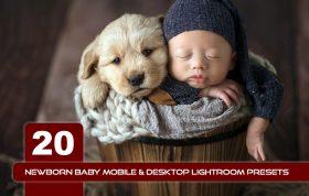 20 پریست لایت روم حرفه ای عکس نوزاد Newborn Baby Lightroom Presets