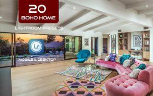 20 پریست لایت روم دکوراسیون داخلی Boho Home Ligthroom Presets