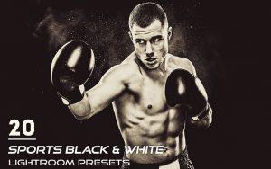 20 پریست لایت روم ورزشی تم تک رنگ Sports Black & White Presets