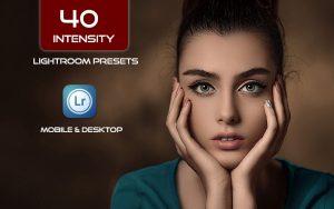 40 پریست لایت روم پرتره و کمرا راو و اکشن کمرا راو فتوشاپ Intensity Lightroom Presets