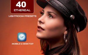 40 پریست لایت روم پرتره و Camera Raw و اکشن کمرا راو فتوشاپ Ethereal Lightroom Presets