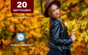 ۲۰ پریست لایت روم حرفه ای پاییزی تم سپتامبر September fall Lightroom Presets