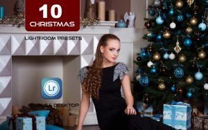 10 پریست لایت روم تم طلایی کریسمس Christmas Home Gold Edition Lightroom Presets