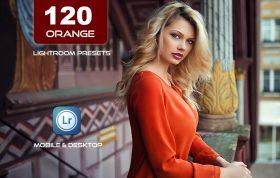 120 پریست لایت روم و پریست کمرا راو فتوشاپ و لات رنگی تناژ نارنجی Tiger Orange Lightroom Presets