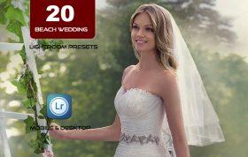 20 پریست لایت روم حرفه ای عروسی تم عروس ساحل Beach Wedding Lightroom Presets