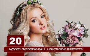 20 پریست لایت روم حرفه ای عروسی تم عروس پاییز Moody Wedding Fall Lightroom Presets