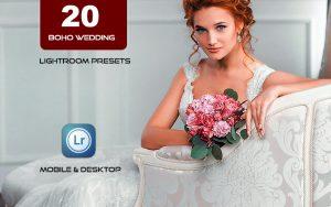 20 پریست لایت روم حرفه ای عروسی Boho Wedding Lightroom Presets