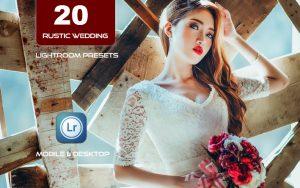 20 پریست لایت روم عروسی تم عروسی روستایی Rustic Wedding Lightroom Presets