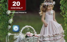 20 پریست لایت روم و پریست کمرا راو فتوشاپ تم رنگی نارگیل Coconut Lightroom Presets