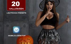 20 پریست لایت روم 202 جشن هالووین Halloween Horror Lightroom presets