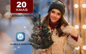 20 پریست کمرا راو و اکشن فتوشاپ 2021 کریسمس Xmas 2021 Photoshop Actions ACR Presets